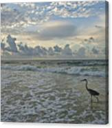 Fishing In The Morning Canvas Print
