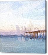 Fishing In Venice, Florida II Canvas Print