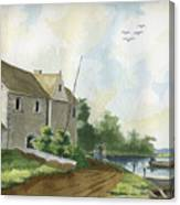 Fishing Lake Canvas Print