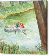 Fishing Lake Tanko Canvas Print