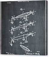 Fishing Lure Patent 1904 Chalk Canvas Print