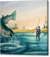 Fishing Montana Canvas Print