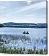 Fishing On Lake Carmi Canvas Print