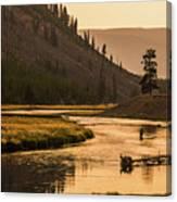 Fishing On Smokey Madison River Canvas Print