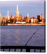 Fishing On The Hudson Canvas Print