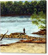 Fishing On The Missouri River Canvas Print