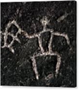 Fishing Petroglyph Canvas Print