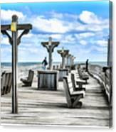 Fishing Pier 13 Canvas Print