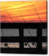Fishing Poles Mount Sinai New York  Canvas Print
