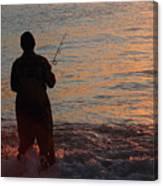 Fishing Reflections Canvas Print