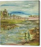 Fishing The Bottom Land Canvas Print