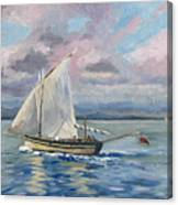 Fishing The Channel Canvas Print