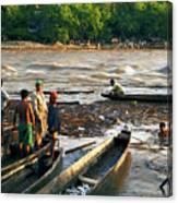 Fishing The River Magdalena Canvas Print