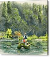 October Morning Fishing The Trinity River Canvas Print