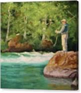 Fishing The Umpqua Canvas Print