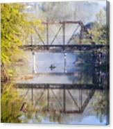 Fishing Under The Trestle Canvas Print