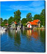 Fishing Village Of Vaxholm Sweden Canvas Print