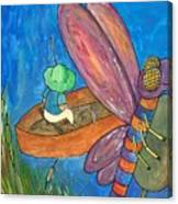 Fishing With Rose Marie Canvas Print