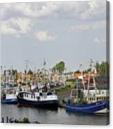 Fishingport Buesum Canvas Print