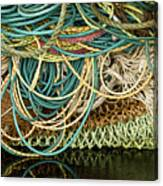 Fishnets And Ropes Canvas Print