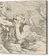 Five Battling Tritons Canvas Print