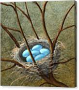 Five Blue Eggs Canvas Print