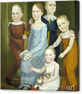 Five Children Of The Budd Family Canvas Print