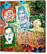 Five Girls Canvas Print