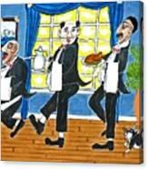 Five Italian Waiters Canvas Print