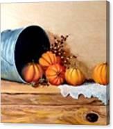 Five Little Pumpkins Canvas Print