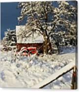 Five Mile Winter's Barn #9862 Canvas Print
