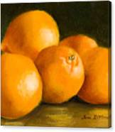 Five Oranges Canvas Print