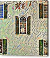 Five Windows Watercolor Canvas Print