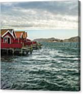 Fjallbacka Huts Canvas Print