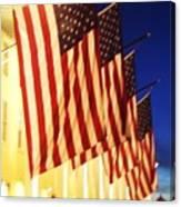 Flag Congress Hall Cape May Nj Canvas Print