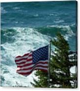 Flag Flying Canvas Print