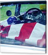 Flag In The  1955 Chevy Bel Air Canvas Print