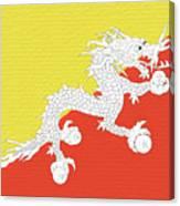 Flag Of Bhutan Wall Canvas Print