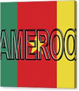 Flag Of Cameroon Word. Canvas Print