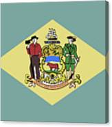 Flag Of Delaware Canvas Print