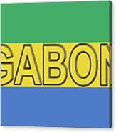Flag Of Gabon Word. Canvas Print