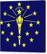 Flag Of Indiana Canvas Print