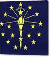 Flag Of Indiana Wall Canvas Print
