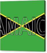 Flag Of Jamaica Word Canvas Print
