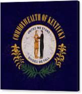 Flag Of Kentucky Grunge Canvas Print