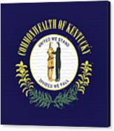 Flag Of Kentucky Wall Canvas Print