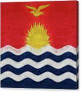 Flag Of Kiribati Texture Canvas Print