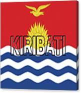 Flag Of Kiribati Word Canvas Print