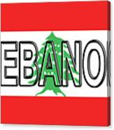 Flag Of Lebanon Word Canvas Print