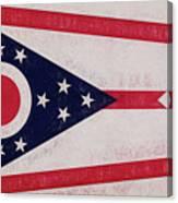 Flag Of Ohio Grunge Canvas Print